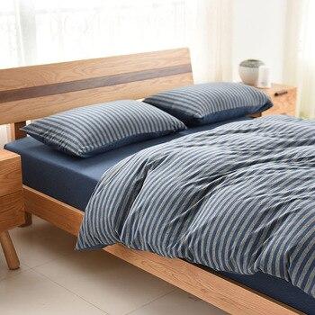 1Pcs Duvet Cover Stripes Quilt Cover Skin Care Cotton Bedclothes 150x200cm/200x230cm/220x240cm Size
