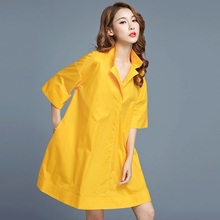 New design plus size woman clothing lady loose casual three quarter sleeves cotton blouse shirt for 50-100kg oversize femme