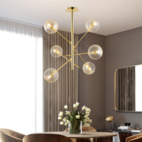 Engineering Chandeliers Bar Glass Ball led Hanging Lamp Modern Chandeliers China Living Room Chandelier Lighting Home led Lights