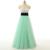 Nova chegada 2017 vestidos longos graduação elegante organza lantejoulas frisada a line vestido de festa abendkleid partido vestido s92505