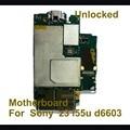 Desbloqueado originais motherboard mainboard para sony xperia z3 d6603, d6653 100% placa lógica de trabalho da ue versão com fichas completas