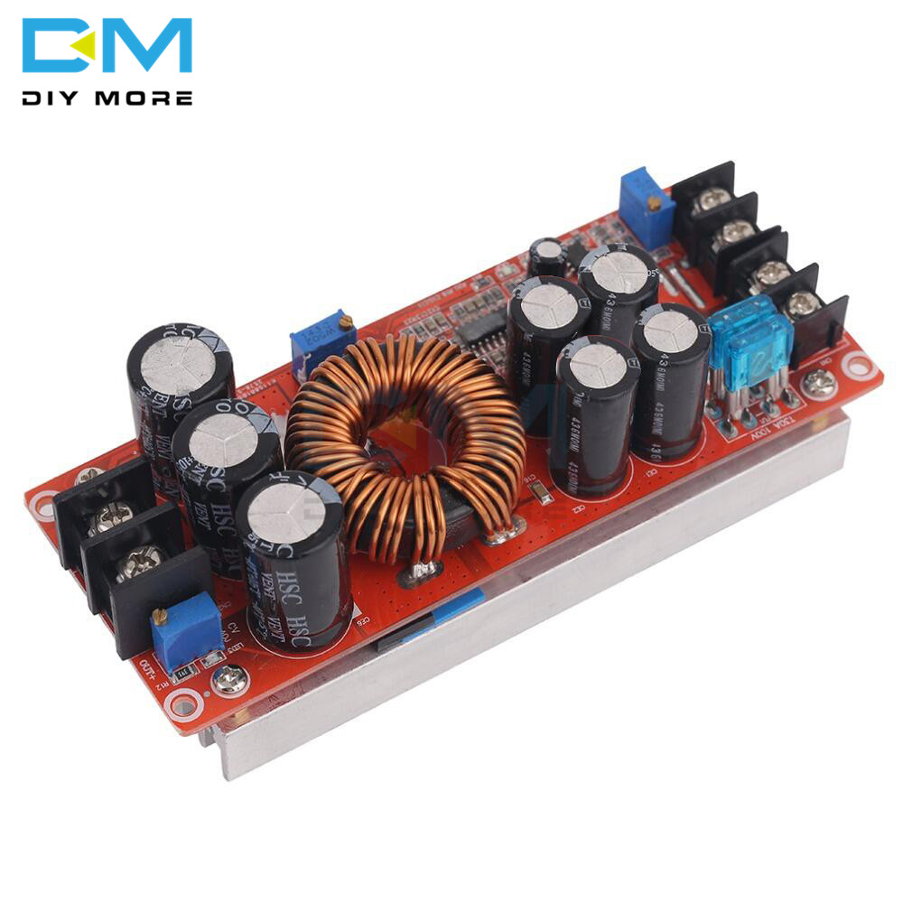 DC 20A 1200W Adjustable Boost Constant Current Module Variable Voltage Power Supply IN 8-60V Diy Electronic PCB BoardDC 20A 1200W Adjustable Boost Constant Current Module Variable Voltage Power Supply IN 8-60V Diy Electronic PCB Board