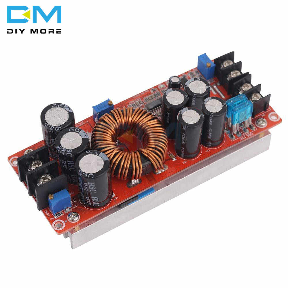 DC 20A 1200W Adjustable Boost Constant Current Module Variable Voltage  Power Supply IN 8-60V Diy Electronic PCB Board
