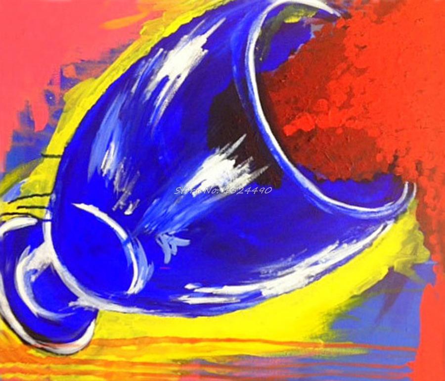 100% pintados à mão moderna abstrata vinho