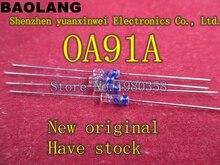 (10 قطعة/الوحدة) OA91A الجرمانيوم الصمام الثنائي ، نقطة الاتصال نوع ، OA91 ، 0A91.