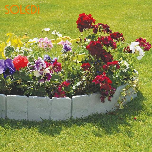 225x255cm cobbled stone effect plastic garden edging hammer in lawn lawn palisade - Plastic Garden Edging