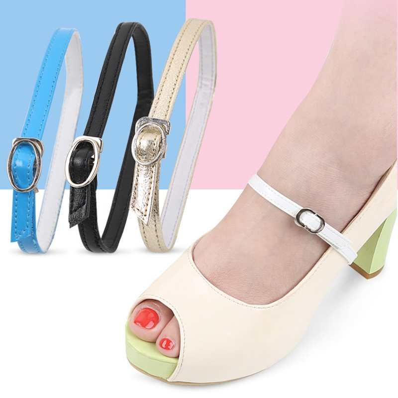 1pair Women Shoe Straps Leather Belt Ankle Shoe Tie Lady Strap for Loose Shoes High Heels Women Convenient Belt Band авточехлы зимние the old pad at home