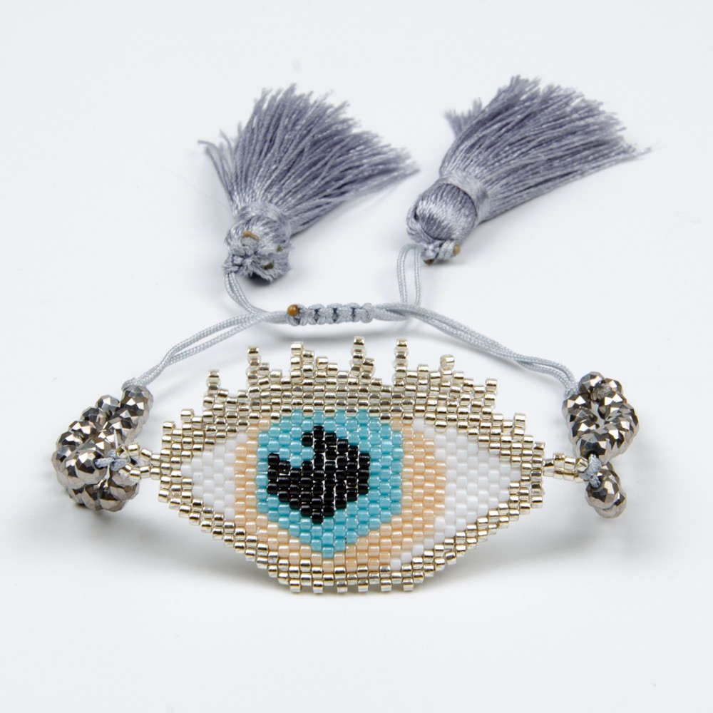 Go2boho Evil Eye Bracelet MIYUKI Silver Bracelet Turkish Lucky Evil Eye Jewelry Pulseras 2019 Women Delicas Beads Inspired Gift Go2boho Evil Eye Bracelet MIYUKI Silver Bracelet Turkish Lucky Evil Eye Jewelry Pulseras 2019 Women Delicas Beads Inspired Gift