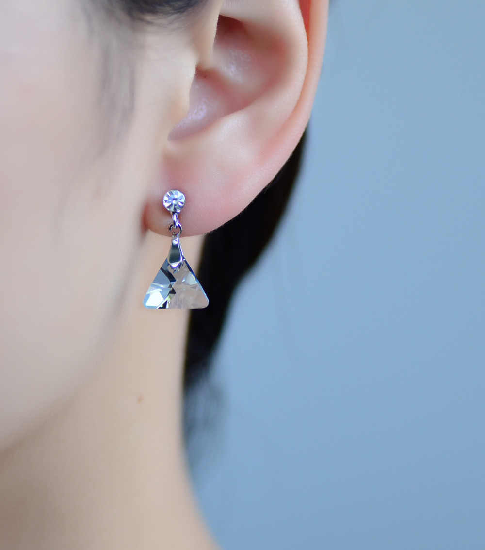 Neoglory Blue Authentic Austrian Crystal Charm Dangle Drop Earrings For Women Gifts Girl Friend Fashion Jewelry 2018 New JS9