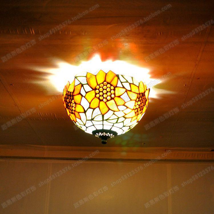 Lámparas de techo de girasol modernas americanas para niños, terraza, balcón, cocina, lámparas de iluminación, decoración de jardín - 3