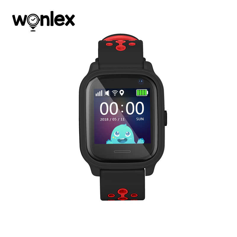 Wonlex KT04 1.3-inch IPS Water Resistance IP67 Swimming Watch Anti-Lost with AGPS/LBS/WiFi GPS Positioning SOS Helper Smartwatch