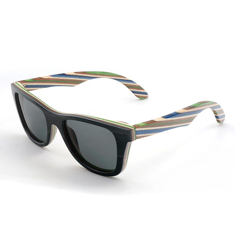 AG011 wooden sunglasses with colorful wooden frame and ploarized lens new arrival (8)