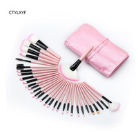 32pcsCTYLXYF Make Up Brushes Brush Set Professional Nature Bristle Brushes Beauty Essentials Makeup Brushes With Bag