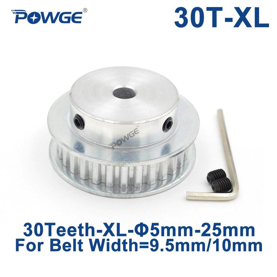 POWGE 30 Teeth XL Timing pulley Bore 5/6/6.35/7/8/10/12/17/19/25mm for width 9.5mm XL Synchronous Belt 30-XL-037 BF 30teeth 30TPOWGE 30 Teeth XL Timing pulley Bore 5/6/6.35/7/8/10/12/17/19/25mm for width 9.5mm XL Synchronous Belt 30-XL-037 BF 30teeth 30T