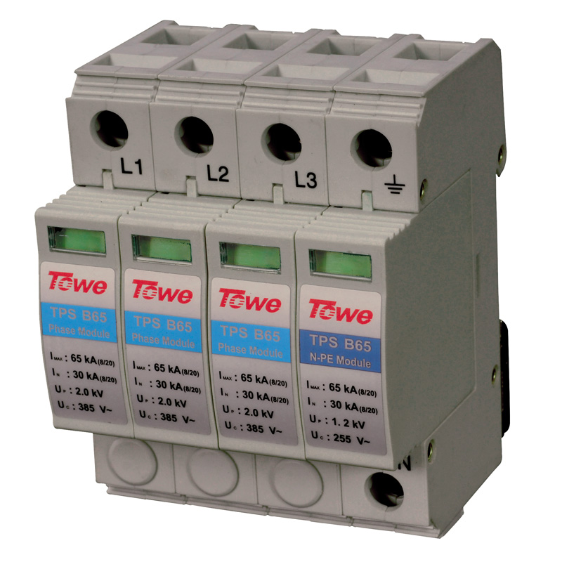 Фотография TOWE AP B65 3P+N Three-phase overvoltage protector,3+1 protect mode with NPE overvoltage protector