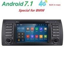 Radio del coche DVD del Androide 7.1 Para BMW E39 E53 M5 (1996-2007) con WIFI Bluetooth BT Phonelink 1080 P Ipod Mapa micrófono