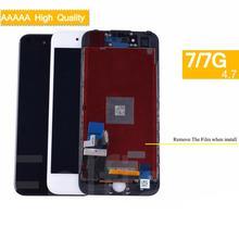 10 قطعة/الوحدة ل iphone 7 7G كاملة شاشة الكريستال السائل محول الأرقام بشاشة تعمل بلمس لوحة Pantalla رصد LCD الجمعية كاملة استبدال