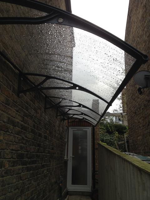 YP100600-alu 100x600 cm moldura de alumínio toldo Ploycarbonate 39x236in, barraca dossel dossel plástico, janela da porta da copa