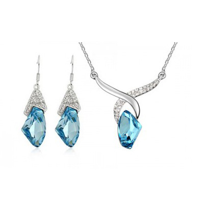 Wholesale - Korea Crystal Set Charm Jewelry sets / necklace + earrings Noble jewelry for women