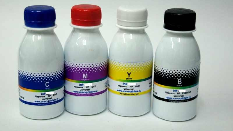 Set tinta untuk printer HP 4 warna (100 ml)