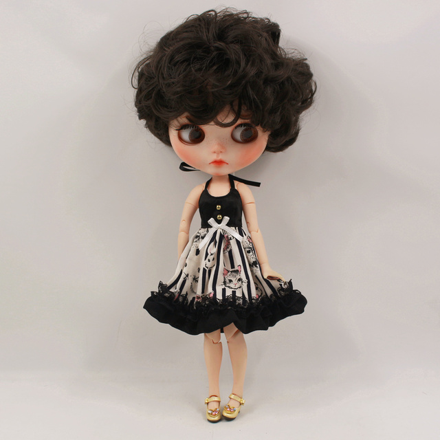 Neo Blythe Doll Black Dress