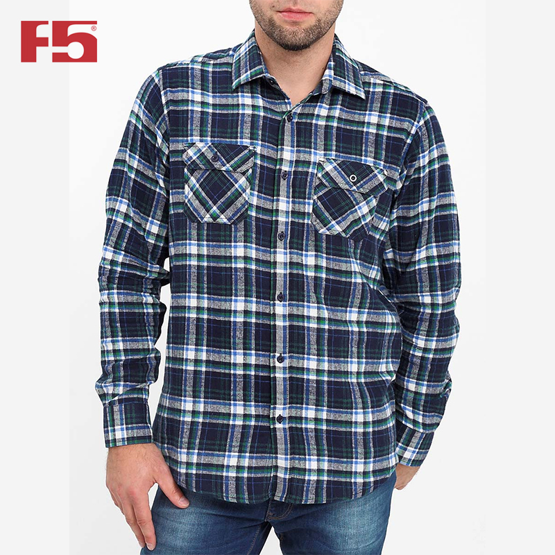 Men shirt F5   284003 men plaid detail shirt