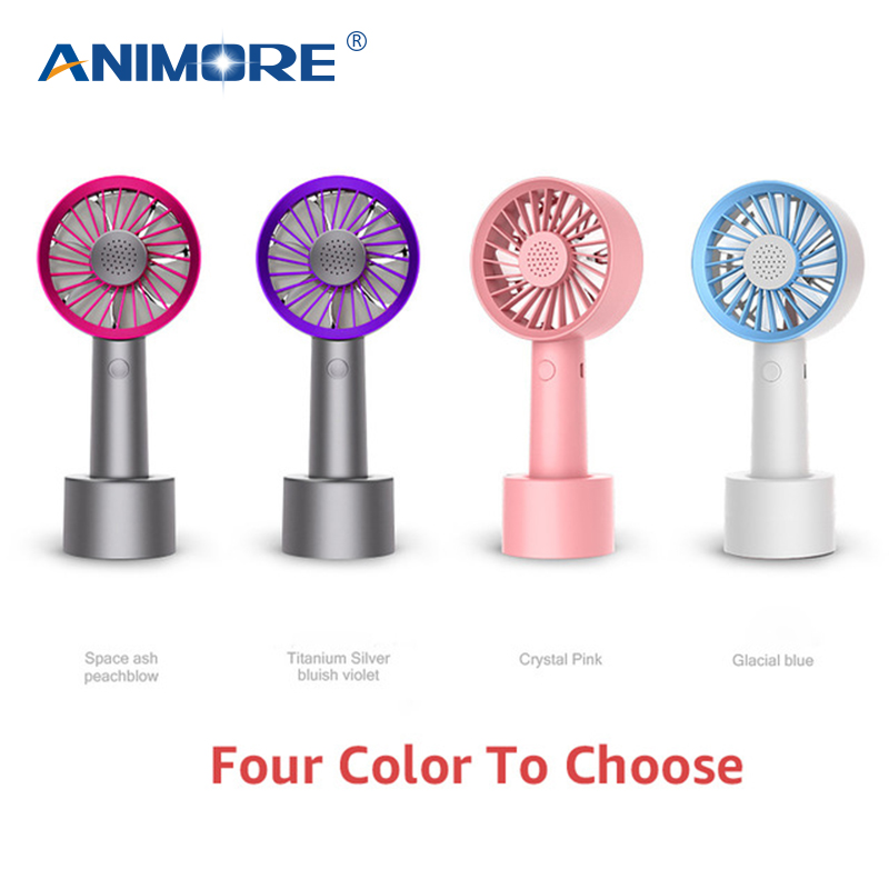 ANIMORE Portab Mini USB Fan Aromatic Fan With USB Charging For Office Home Double-vane Charge With Computer Electric Laptop Fan mini double fan blade usb fan charging quiet work home office outdoors blue