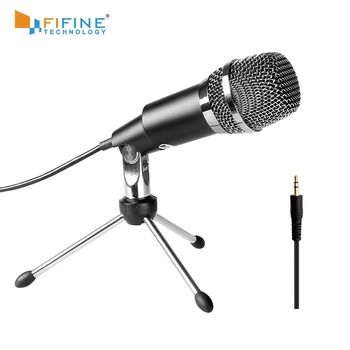 Fifine Condenser Microphone  3.5mm Plug and Play  For Computer PC Online Chat, Skype,YouTube,Google Voice Search, Games-K667