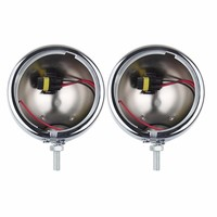 1 Pair Chrome 4 5 Inch Round Mounting Bracket Ring Mount Brackets For Harley Davidson LED