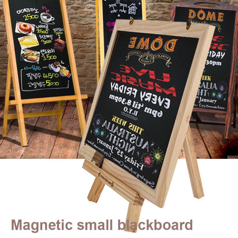 Sided Blackboard Sketchpad Whiteboard Dual-Purpose Preschool Restaurant WordPad Desktop Creative Teaching Drawing Board Table