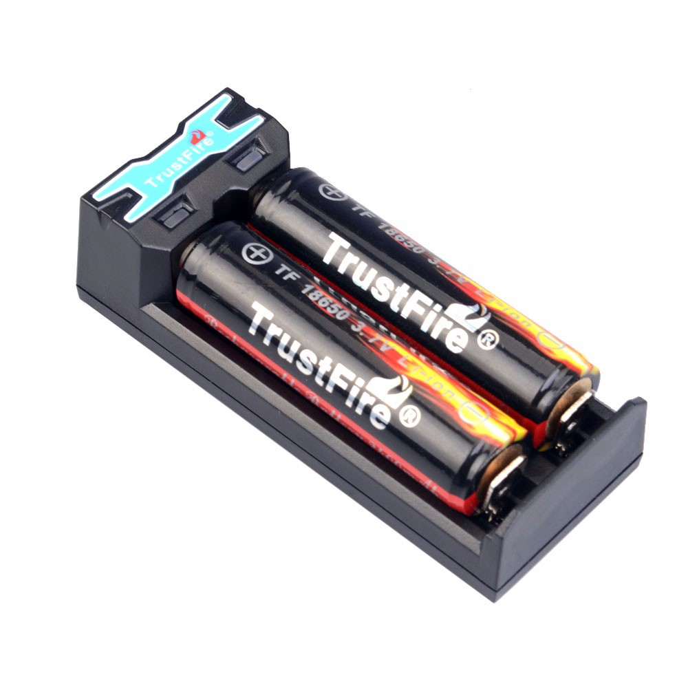 TrustFire TR-016 5V Mini Universal Micro USB Battery Charger + 2 x 3.7V 18650 2400mah Rechargeable Protected