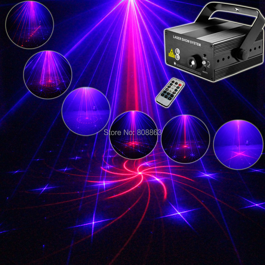 New Model Red Blue 18 Patterns Laser Projector Blue Led Remote Stage DJ Lighting Xmas Bar KTV Dance Disco Party Light Show LB18 laser stage lighting 48 patterns rg club light red green blue led dj home party professional projector disco dance floor lamp