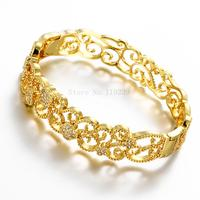 ZZ018 A Good Quality Nickle Free Antiallergic 2015 New Fashion Jewelry 24K Gold Plated Bracelets