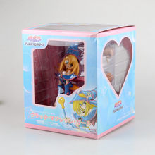 Classic Game Anime Yu Gi Oh ZEXAL Official Card Game King of Games Yugi Muto's Dark Magician Girl Sex 18CM Action Figure(China)