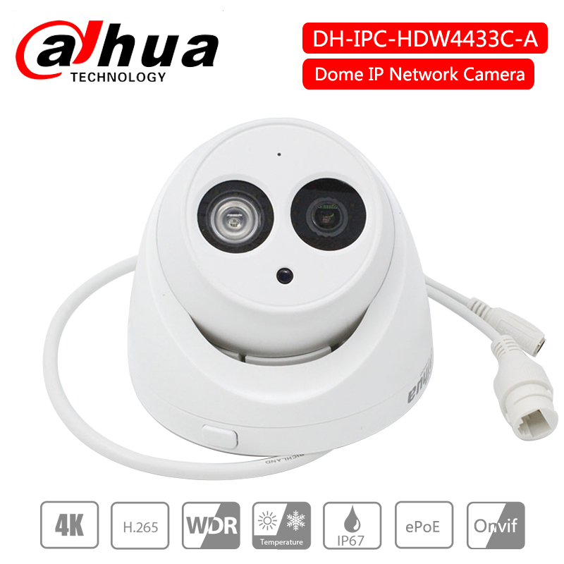 Dahua IP Camera 4MP POE IP67 H 265 starlight Built in Mic IPC HDW4433C A replace
