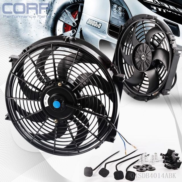 """US Universal 14"""" Motor Engine Radiator oil cooler Cooling Electric Pull Push Fan"""