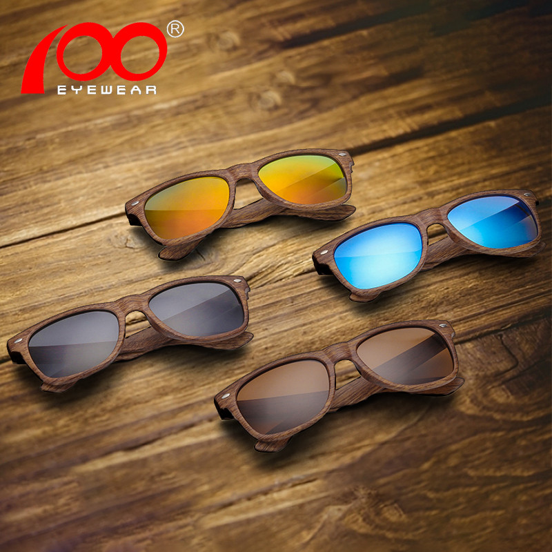 Wood Grain sunglasses polarized UV400 brand Male driving glasses sunglasses men #PS001