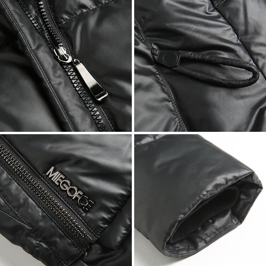 MIEGOFCE 2019 Fashionable Coat Jacket Women s Hooded Warm Parkas Bio Fluff Parka Coat Hight Quality