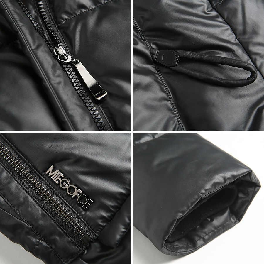 Miegofce 2020 casaco de moda jaqueta feminina com capuz quente parkas bio fluff parka casaco alta qualidade feminino nova coleção inverno