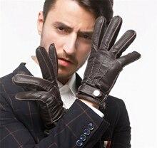 Mens Deerskin leather gloves touchscreen