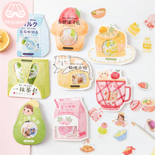 M 50Pcs/bag Japanese Kawaii Stickers Scrapbooking Its So Delicious Series Student DIY Decoration Stationery