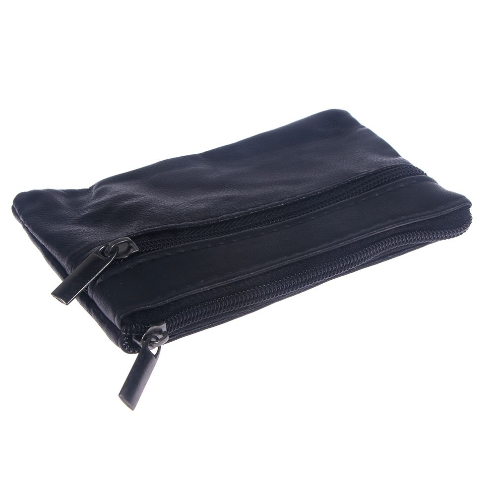 Men Women Card Coin Key Holder Zip Leather Wallet Soft Pouch Bag Purse Gift New  Money Holder Card Cases