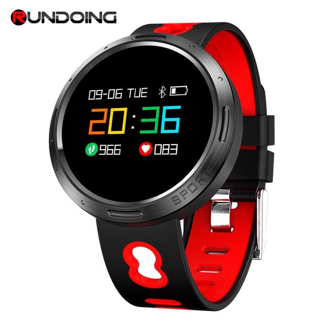 Rundoing X9 VO pulsera inteligente IP68 impermeable de Monitor de presión arterial SMS Push smartband pulsera Fitness tracker
