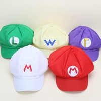 Sombrero de Super Mario Bros para adulto, gorra de dibujos animados de Mario, Luigi, Wario, Waluigi, Cosplay, gorras de béisbol con visera