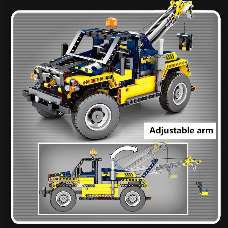 609 pièces Cité Génie Véhicules 2 En 1 Chariot Élévateur Blocs De Construction Compatibles Legoing Technic Camion Grue Briques Jouets Pour Enfants - 4