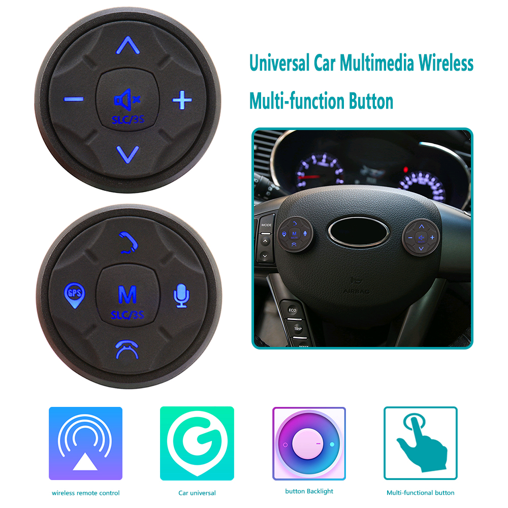 Universal Wireless Car Multimedia Steering Wheel Remote Control Multi function Button 10 Buttons DVD Navigation Button Switch