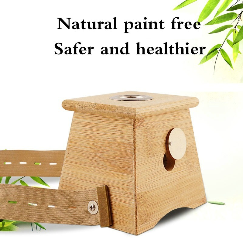Moxibustion Box Bamboo Moxa Roll Stick Holder Case Massager Body Device Tool Treatment Therapy For Arm Leg Abdomen Massage bamboo moxa moxibustion box acupuncture relaxation roller stick holder neck arm body acupoint massage moxibuting therapy device