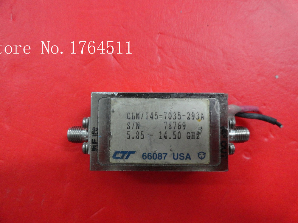 [BELLA] CTT CLM/145-7035-293A 5.85-14.50GHZ 15V SMA Supply Amplifier