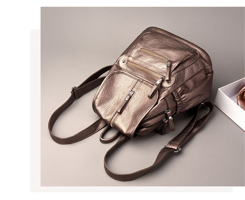 HTB1VBhTaLfsK1RjSszgq6yXzpXaV Women Backpack Female High Quality Soft Leather Book School Bags For Teenage Girls Sac A Dos Travel Back pack Rucksacks Mochilas