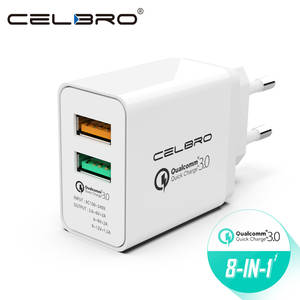 Usb Charger Wall Adapter For Mobile Phone Quick Charge 3.0 2 Port Dual Usb Fast Charger